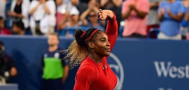 Serena en el torneo de Cincinnati. Foto: Twitter del Cincinnati.