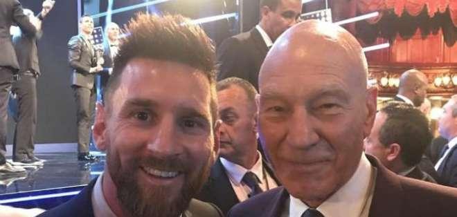 Messi junto a 'Profesor X'.