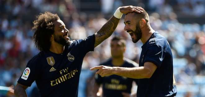 El equipo 'merengue' venció 3-1 al Celta de Vigo. Foto: MIGUEL RIOPA / AFP