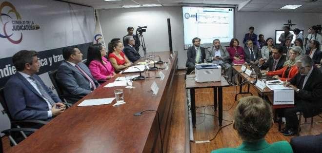 QUITO, Ecuador.- Los evaluados tienen hasta tres días para ingresar virtualmente las causas sorteadas. Foto: Archivo