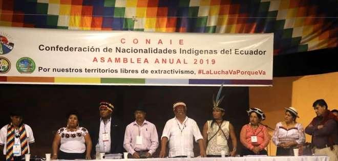 El movimiento indígena resolvió romper el diálogo con el Gobierno en su asamblea anual. Foto: Conaie