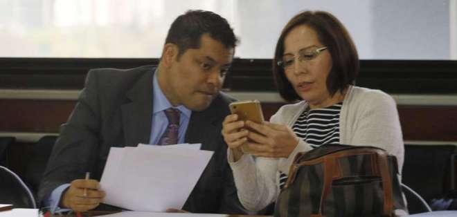 Alexis Mera y María de los Ángeles Duarte pidieron cambiar sus medidas cautelares. Foto:API