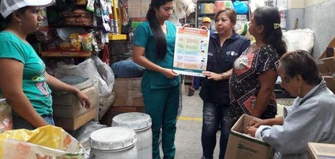 Campaña de prevención por el virus de la influenza en Guayaquil. Foto: Coordinación Zonal de Salud 8