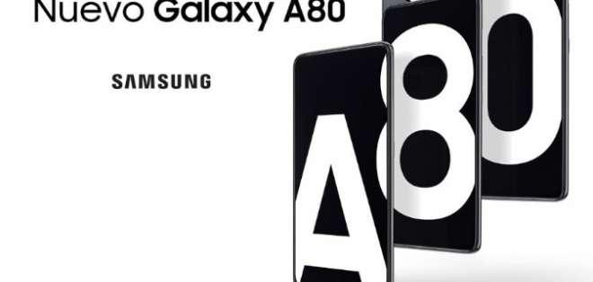 Galaxy A80, el smartphone de Samsung con cámara giratoria.