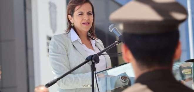 La ministra Romo citó algunos casos. Foto: Ministerio de Gobierno