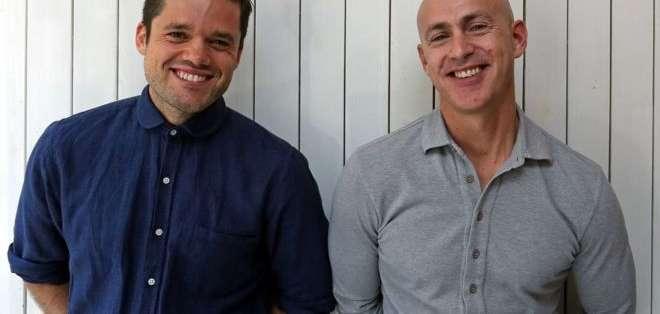 Richard Pierson (izquierda) y Andy Puddicombe crearon una aplicación para meditar.