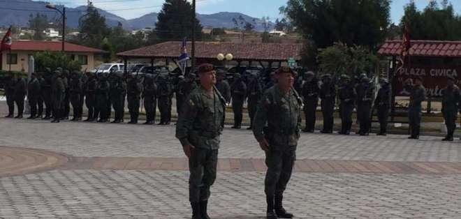 Cambio de mando de la IV División Amazonas para seguridad en la frontera. Foto: Paul Romero