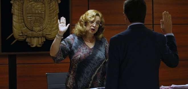 Magistrada Camacho, en cambio, negó la solicitud de Villavicencio y Montúfar. Foto: Archivo API