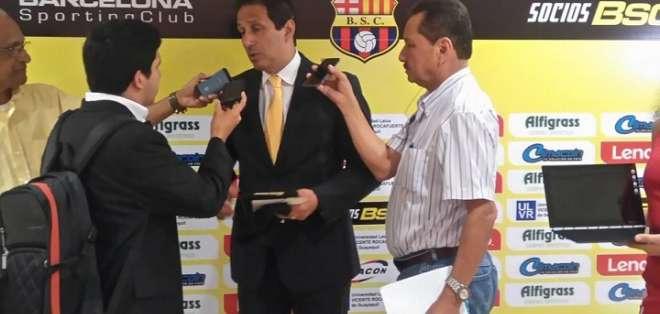 José Cevallos, presidente de Barcelona SC.