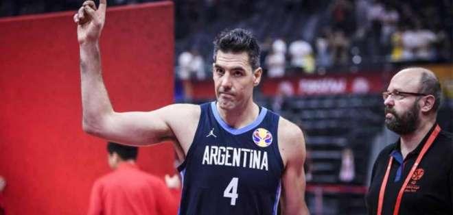 Luis Scola, figura de Argentina.