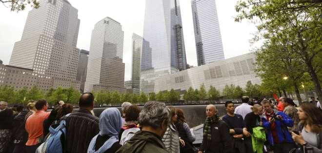 Monumentos conmemorativos del Memorial del 11 de Septiembre en Nueva York. Foto: AP
