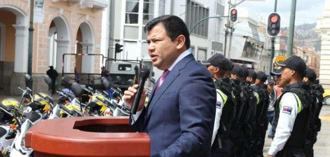 RIOBAMBA, Ecuador.- Litardo cumplió agenda en esta ciudad a propósito de la Fundación de la República.