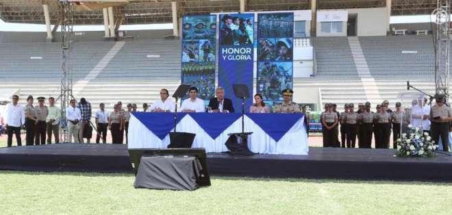 El evento se realizó en el Parque Samanes de Guayaquil. Foto: @Presidencia_Ec