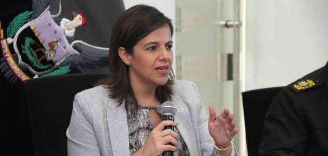 """QUITO, Ecuador.- (La filtración) """"es un tema muy grave"""", señaló la ministra de Gobierno, María Paula Romo. Foto: Twitter"""