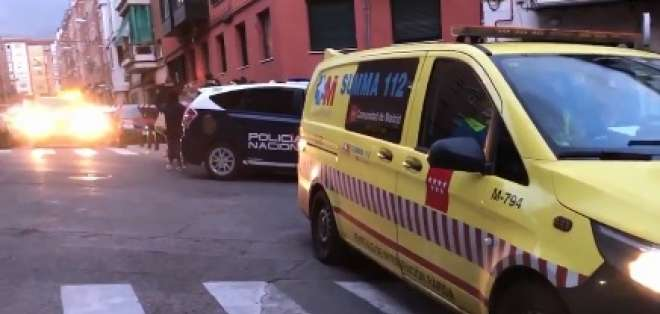 MADRID, España.- Psicólogos atendieron a las menores en el sitio. Foto: Captura de video @112cmadrid