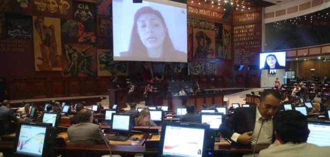 QUITO, Ecuador.- En el pleno se revisó el informe, elaborado hace un año por la comisión de Justicia. Foto: API