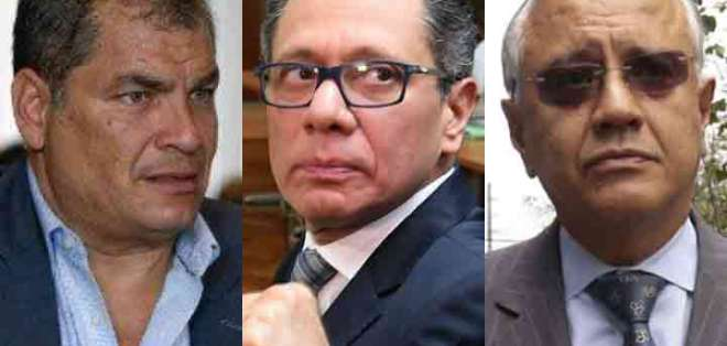 ECUADOR.- Jueza Camacho receptó observaciones de Correa, Glas, Mera, entre otros investigados. Collage: Ecuavisa