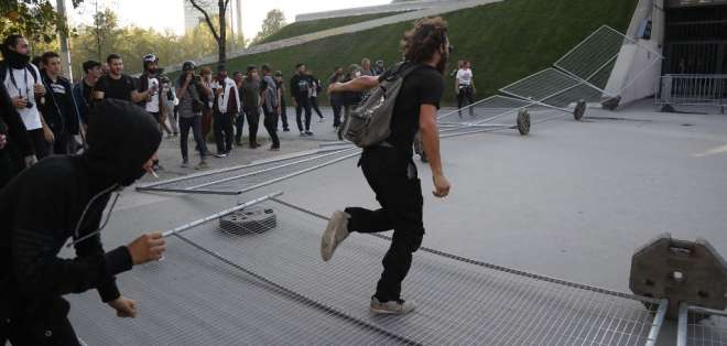 Arrestos en París durante varias manifestaciones. Foto: AFP