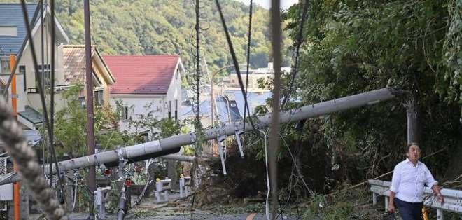 Tifón dejá sin electricidad a más de 15.000 hogares en Japón. Foto: Archivo - AFP