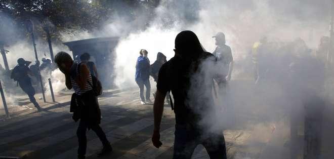 Arrestos en París durante varias manifestaciones. Foto: AP