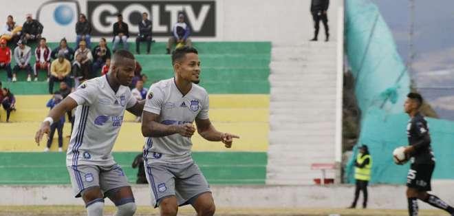 Los 'azules' ganaron 2-1 al América de Quito en condición de visitante. Foto: API