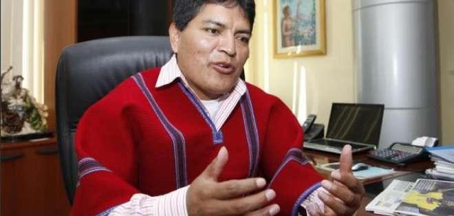 Luis Chango, dirigente de Mushuc Runa.