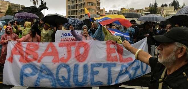 Protesta durante el miércoles 2 de octubre. Foto: AFP