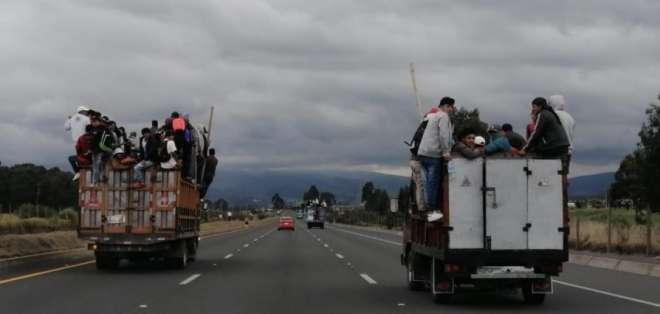 Indígenas burlan cerco militar y se dirigen a Quito. Foto: @LaGacetaL