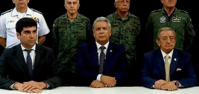 """Mandatario acusó a Correa y Maduro de un """"intento de golpe de Estado"""". Foto: Captura"""