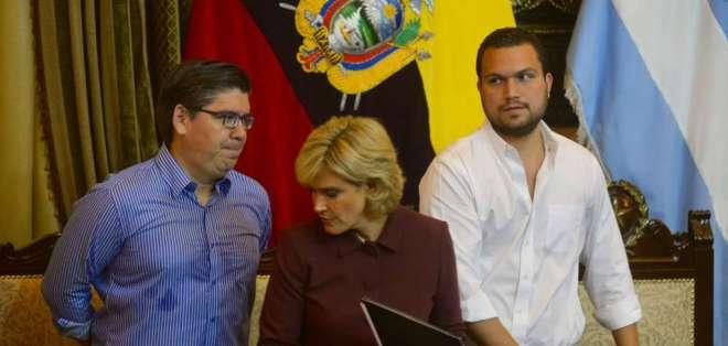 """La mejor forma de homenajear a Guayaquil es defendiendo su libertad"", dice Viteri. Foto: API"