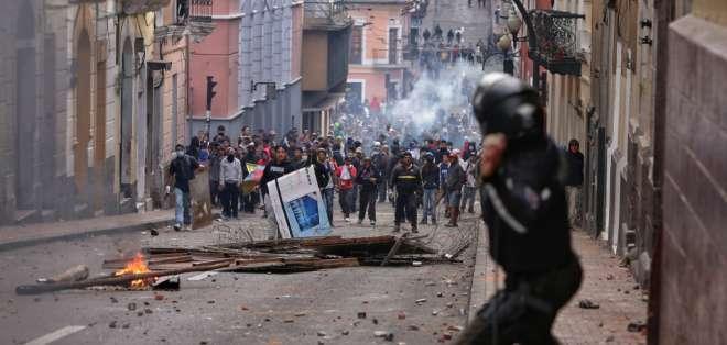 El lunes 7 de octubre las protestas se recrudecieron. Foto: AFP
