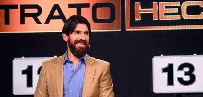 Sebastián Abreu, en su rol de presentador.