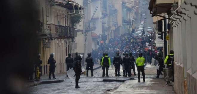 El presidente Moreno sigue la crisis desde Guayaquil. Foto: API
