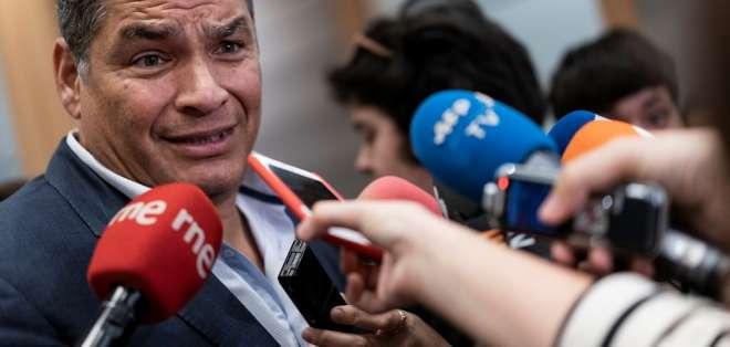 """Correa denunció la """"brutal represión"""" de las fuerzas del orden contra los manifestantes. Foto: AFP"""