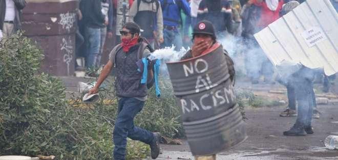 La novena jornada de protestas en la capital de la República fue violenta. Foto: API
