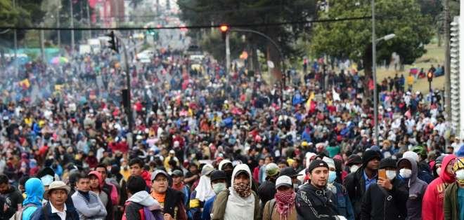 Las protestas duraron 11 días y fueron lideradas por los indígenas y grupos de trabajadores. Foto: Archivo