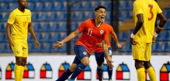 Felipe Mora grita su gol. Foto: Selección Chilena.