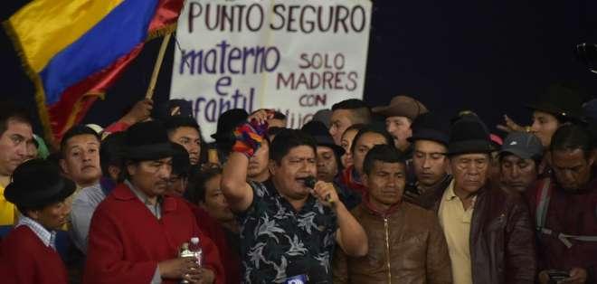 Acusa al presidente de la Conaie y otros líderes por la retención de policías en protestas. Foto: AFP