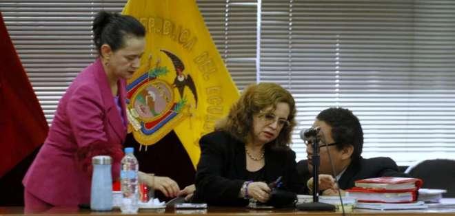 QUITO, Ecuador.- La jueza Daniella Camacho reinstaló la audiencia cerca de las 10:00. Foto: API