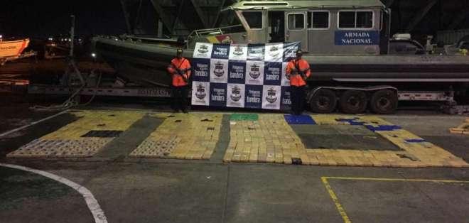 Se incautaron 890 kilos de clorhidrato de cocaína. Foto: Armada de Colombia