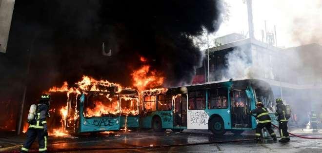 """Piñera decretó """"estado de emergencia"""" en Santiago. Foto: AFP"""