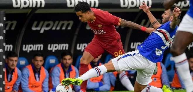 Partido entre la Roma y Sampdoria. Foto: Twitter Roma.