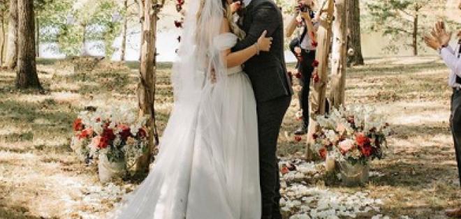 La boda de Isabella Castillo y Matías Novoa.