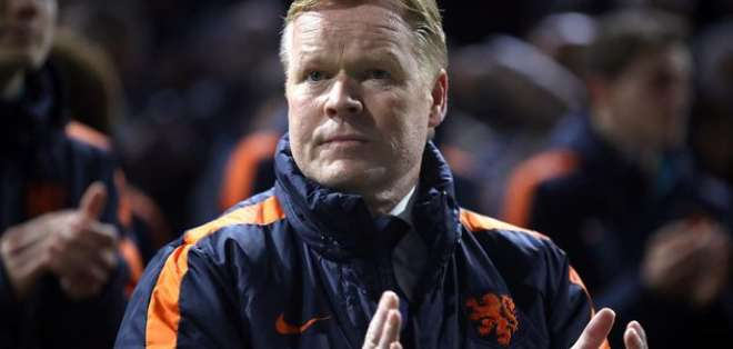 Ronald Koeman, entrenador de Holanda.