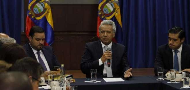 Moreno se reunió con representantes de los trabajadores este lunes 21 de octubre. Foto: API