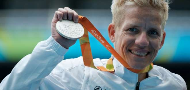 La atleta belga Marieke Vervoort buscaba que el mundo tuviera conciencia de la eutanasia. Foto: AFP