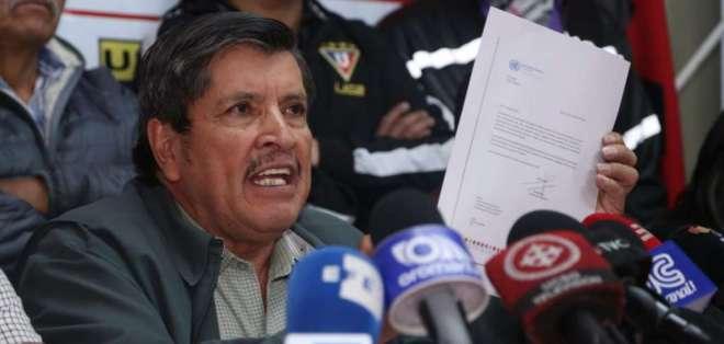 Tatamuez dijo que van a exigir discutir el paquete económico y laboral. Foto: API