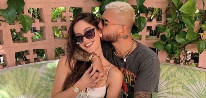 """La pareja se conoció durante el rodaje del video """"Felices los 4"""". Foto: Instagram @natalia"""
