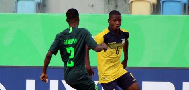 Partido entre Nigeria y Ecuador. Foto: Twitter FEF.