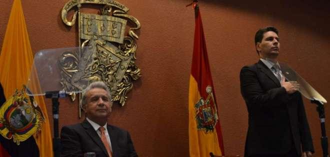 Alcalde de Cuenca pidió respaldo del régimen para más obras en la ciudad. Foto: API